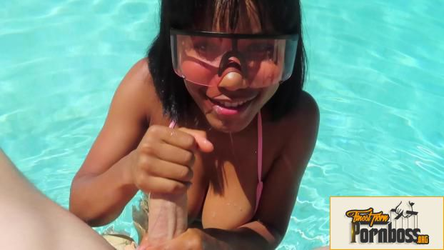 Foxxed Up - Poolside Blowjob With Cum Goggles