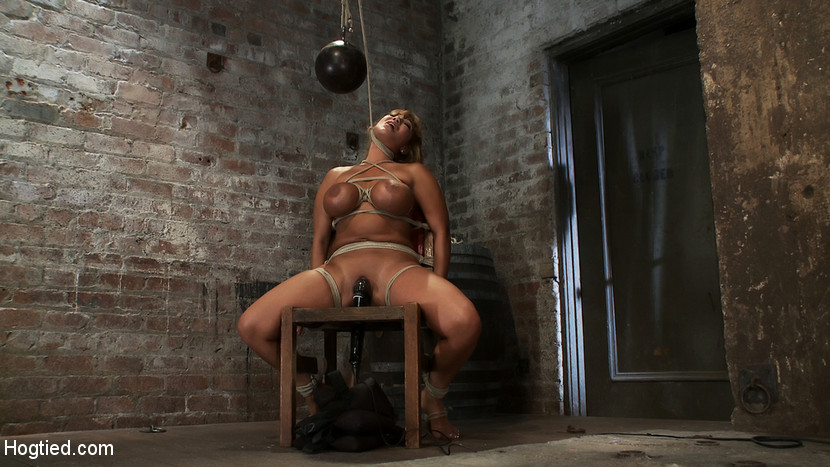 BestBDSM24.com - Image 9519 - Classic HogtiedBig Titted MILF in the chairOrgasm after Orgasm no Mercy