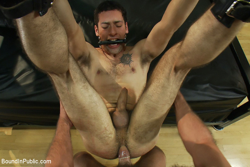 BestBDSM24.com - Image 11776 - Ripped boy gets his hole shocked and filled at Mr. S Leather Store.