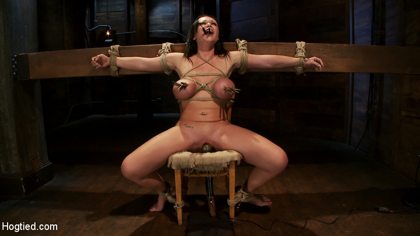 BestBDSM24.com - Image 14446 - Big titted 21yr old in her first ever hardcore bondage shoot Once helpless we abuse those tits.