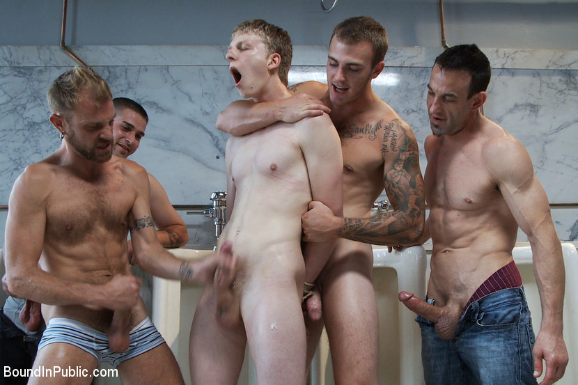 BestBDSM24.com - Image 14730 - Two boys get used and abused in a public restroom.