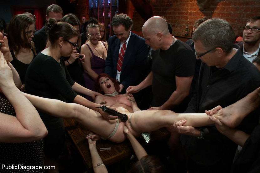 BestBDSM24.com - Image 21135 - Redheaded Slut Ass Fucked at Crowded Party