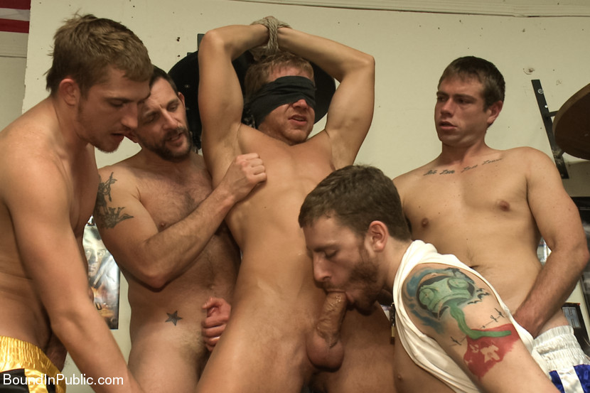 BestBDSM24.com - Image 29519 - Loudmouth muscle-head gets taken down and gang fucked at a boxing gym