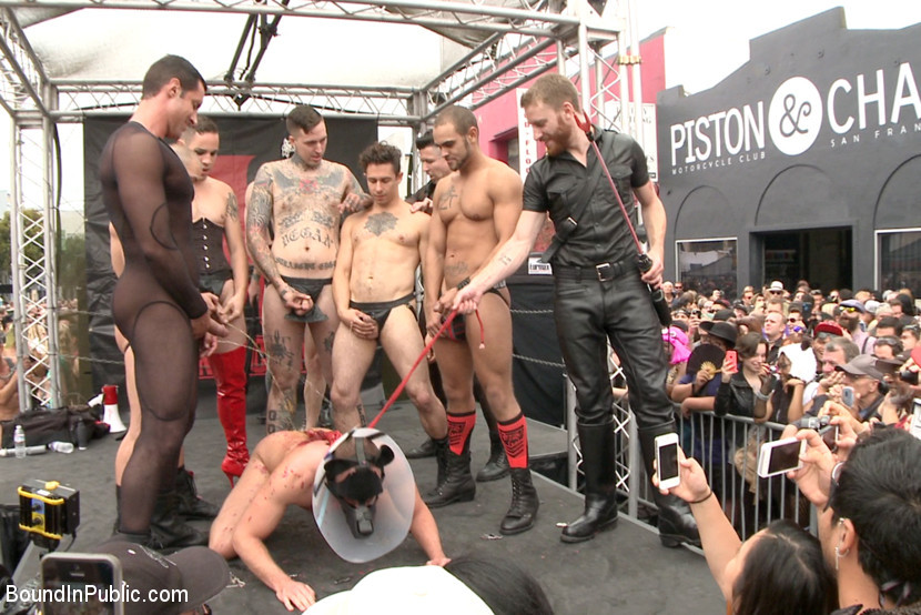 BestBDSM24.com - Image 36712 - Public Whore Doused with Piss on the Folsom Stage