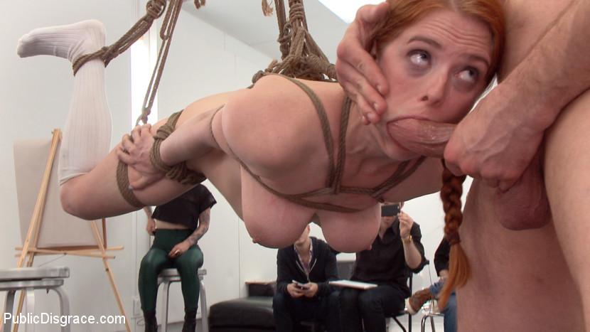 BestBDSM24.com - Image 37615 - Slutty redhead shocks art students by taking giant cock in all holes
