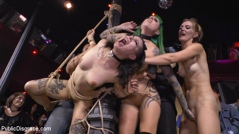 BestBDSM24.com - Image 37790 - Two Slutty Whores Disgraced in Spanish Extreme Public Orgy!